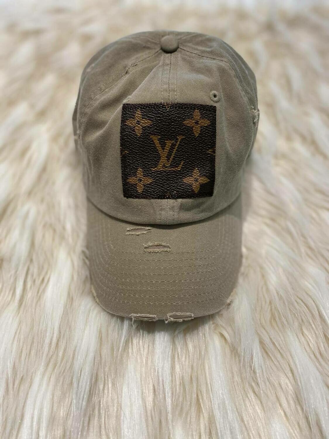 Designer LV Baseball Hat in Beige