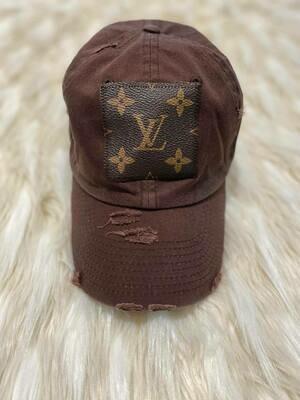 Designer LV Baseball Hat in Brown