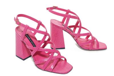 Alice & Olivia Poloma Heel In Vivid Pink