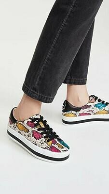 Alice & Olivia Ezra Platform Sneaker In Multi Black