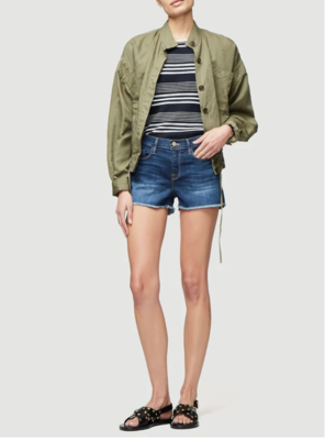 Frame Le Cut Off Denim Shorts in Williams