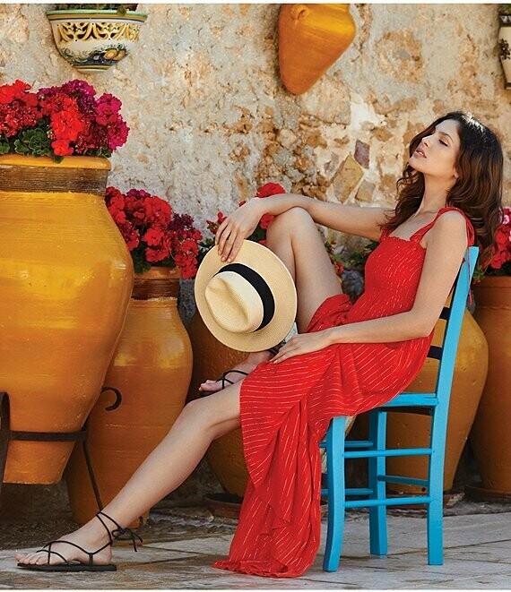 Elan Smocked Dress In Red