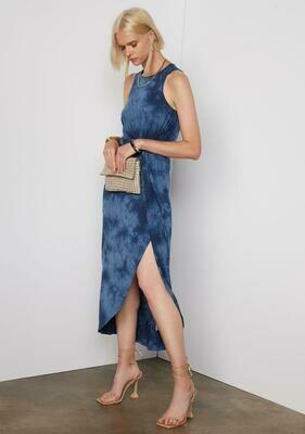 Tart Collections Bret Maxi Dress In Indigo Tie Dye