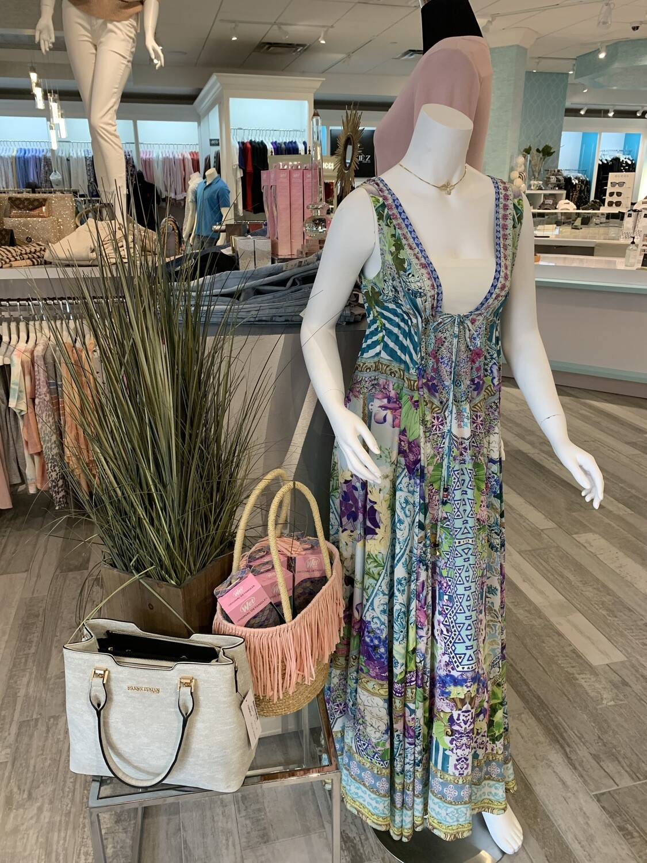 Camilla Botanical Print Maxi Dress