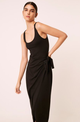 French Connection Zena Jersey Wrap Dress In Black