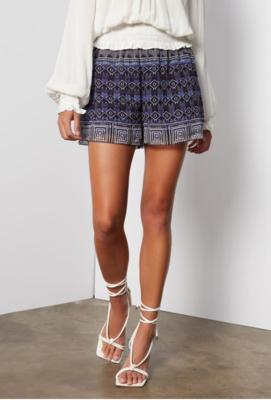 Tart Collections Imogen Shorts in Tie Dye Ikat