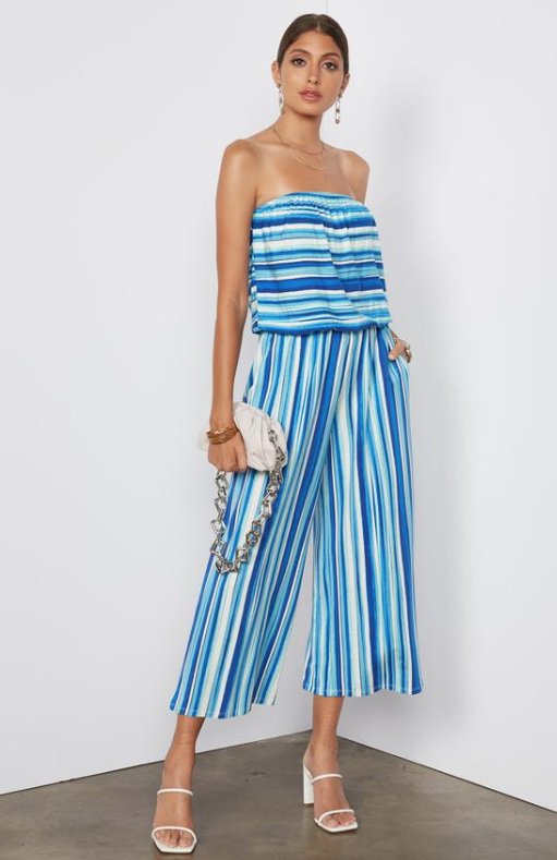 Tart Collections Vanessa Jumpsuit In Painted Stripe