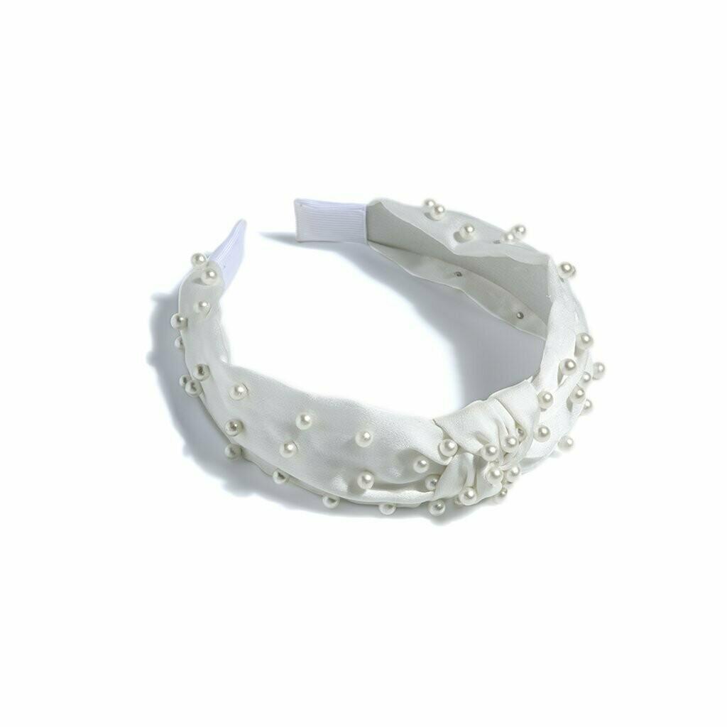 Shiraleah Pearl Headband In Ivory