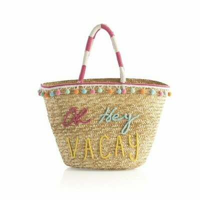 Shiraleah Oh Hey Vacay Tote In Natural