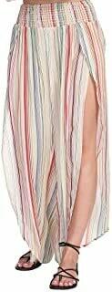 Elan Pants With Center Slit In Multi Stripe