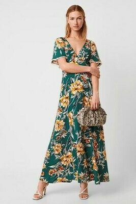 French Connection Claribel Floral Maxi Dress in Evergreen Multi