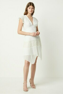 French Connection Bikita Lace Handkerchief Dress in Summer White