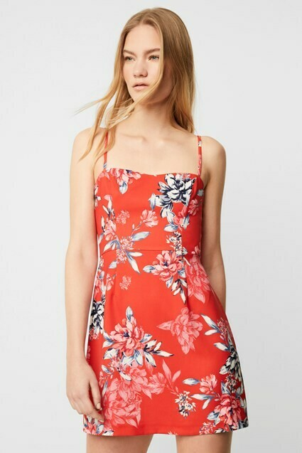 French Connection Coletta Sheath Dress in Bright Flame Multi