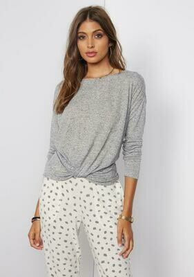 Tart Collection Bowie Top in Speckled Grey