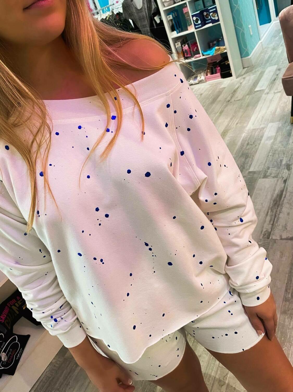 Jackie Z Splatter Foil Sweatshirt