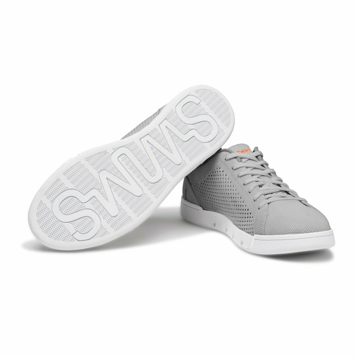 Swims Breeze Tennis Knit in Light Grey and White