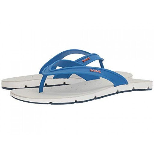 SWIMS Breeze Thong Sandals In Seasport Blue and Alloy