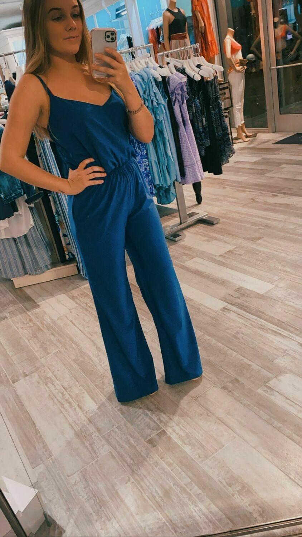 Single Dress Renita Jumpsuit In Navy