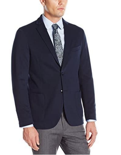 Stone Rose Navy Stretch Twill Solid Blazer in Navy