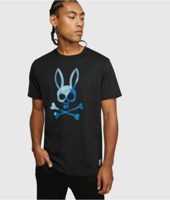 Psycho Bunny Andover Graphic Tee in Black