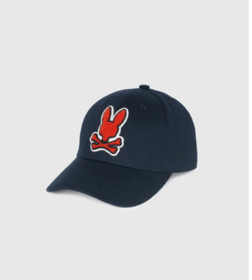 Psycho Bunny Baseball Cap in Navy