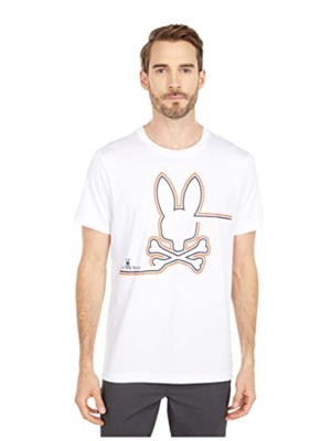 Psycho Bunny Freeport Graphic Tee in White