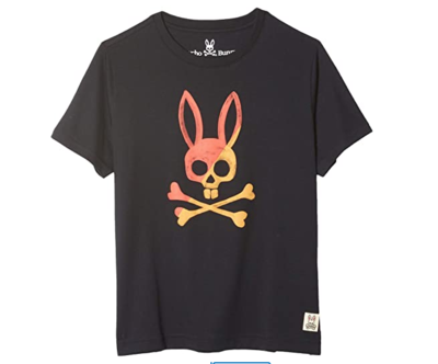Psycho Bunny Andover Graphic Tee in Navy