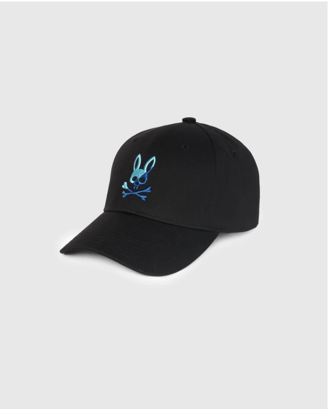 Psycho Bunny Baseball Cap in Black