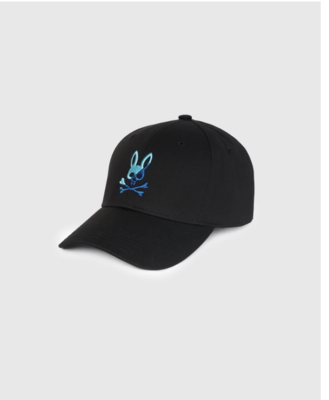 Psycho Bunny Baseball Cap in Black
