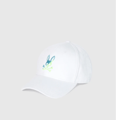 Psycho Bunny Baseball Cap in White