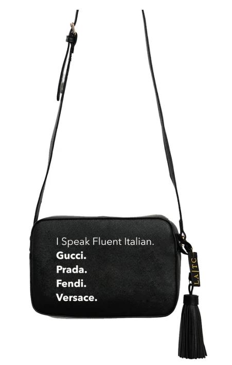 LA Trading Co. Vegan Cross Body Fluent Italian in Black