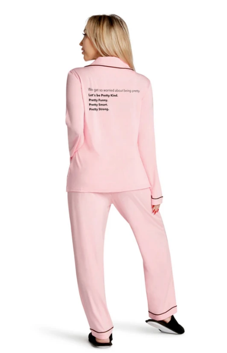 LA Trading Let's Be Pretty Pajama Set in Pink