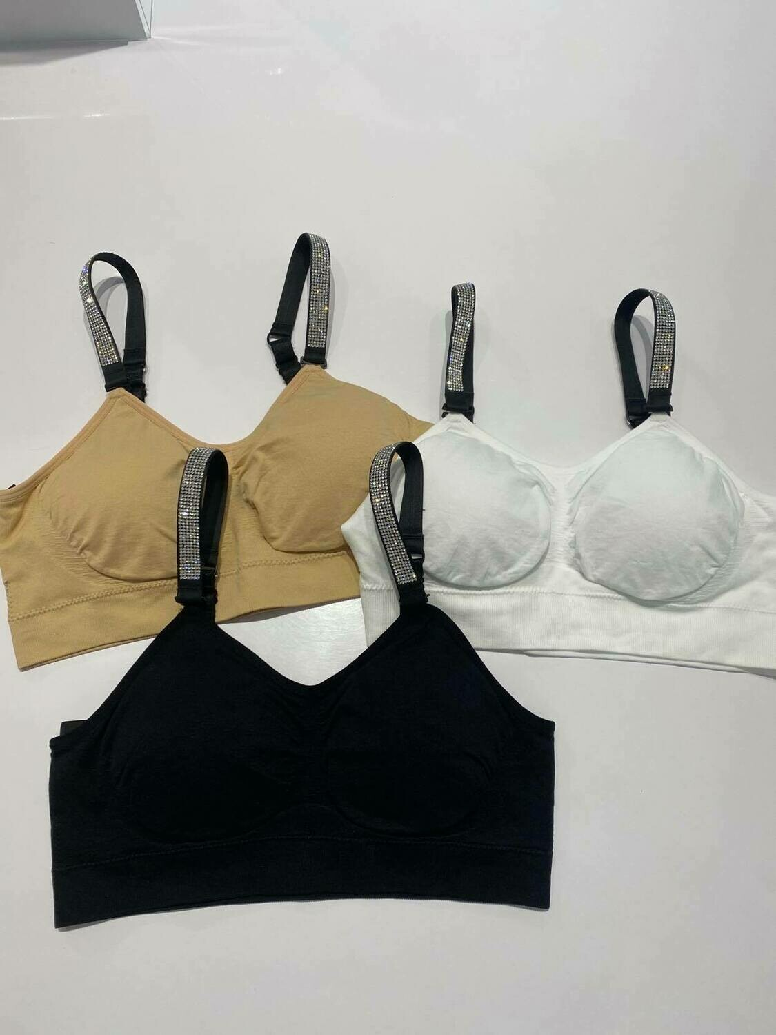 Strap-Its Crystal Strap Bra In Nude