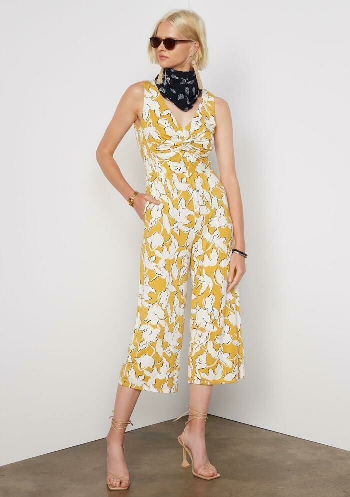 Tart Collections Leighton Jumpsuit in Abstract Floral