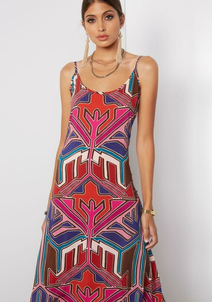 Tart Collections Vera Midi Dress in Painted Aztec