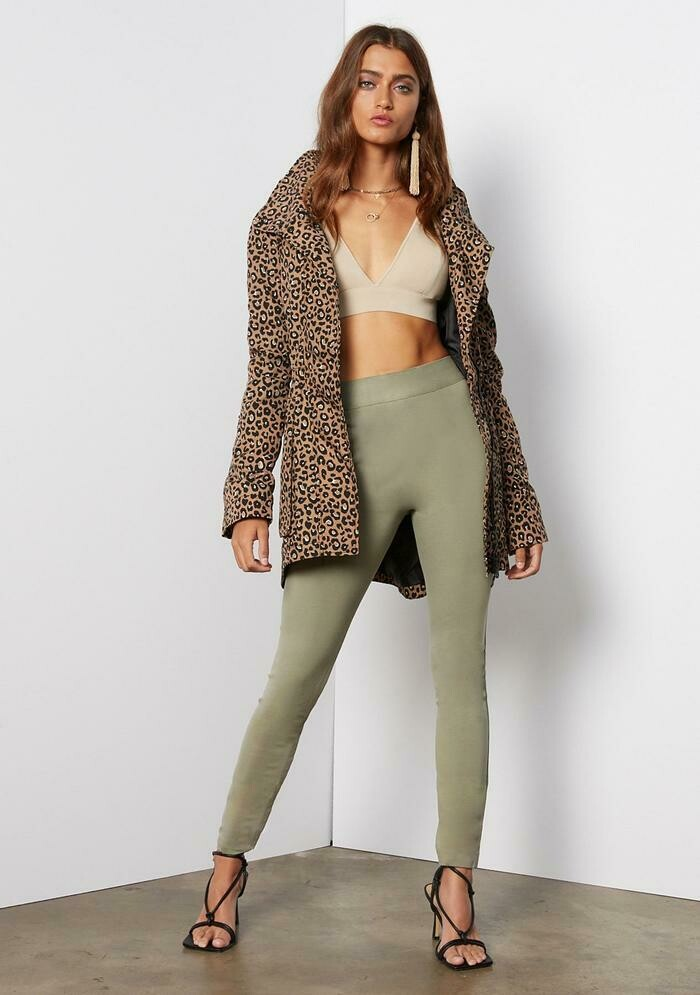 Tart Collections Cory Jacket In Warm Leopard