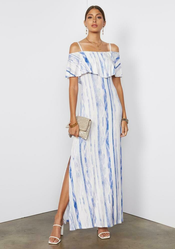 Tart Collections Tacita Maxi Dress in Ikat Stripe