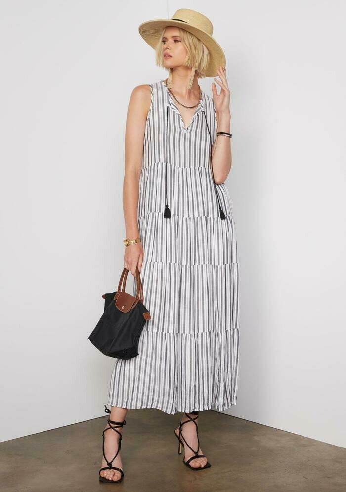 Tart Collections Journey Maxi Dress In Tier Stripe