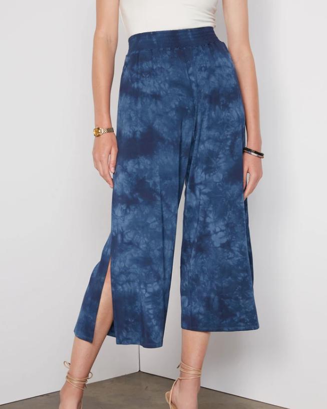 Tart Collections Nova Pant In Indigo Tie Dye