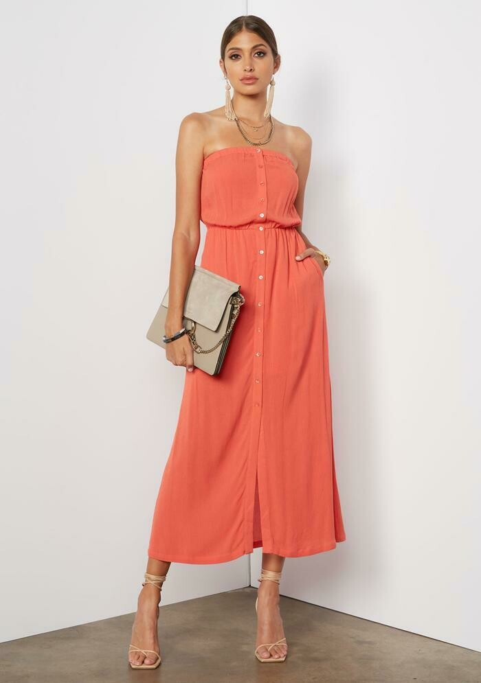 Tart Collections Trin Maxi Dress In Paprika
