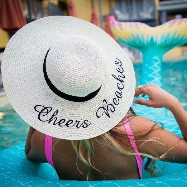 Cheers Beaches Floppy Sun Hat in Ivory