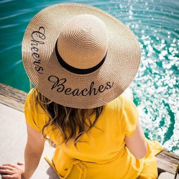 Cheers Beaches Floppy Sun Hat in Tan