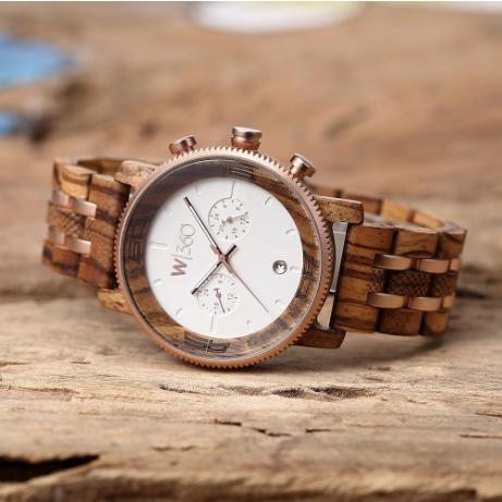 Wooden360 The Maverick Rose Gold Watch