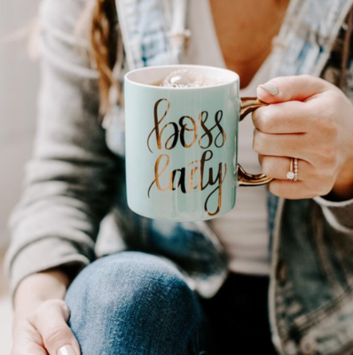 SWD Boss Lady Coffee Mug in Mint