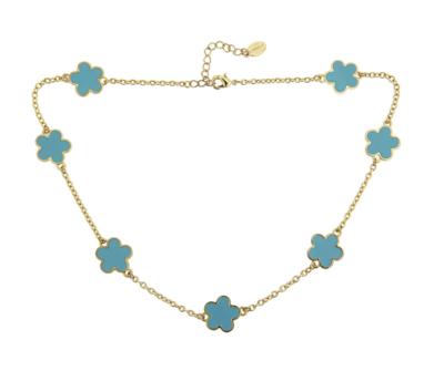 Fornash Short Chloe Necklace in Aqua