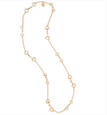 Fornash Long Horse Bit Necklace in Gold