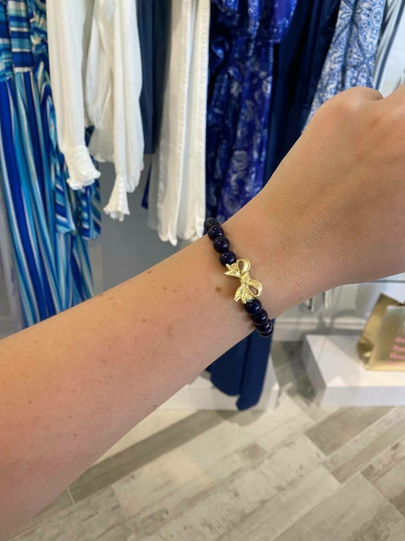 Fornash Sweetie Pie Bow Bracelet In Navy