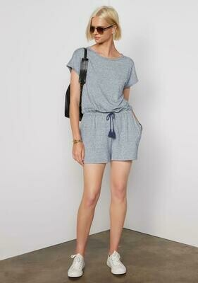 Tart Collections Andie Romper In Speckled Blue