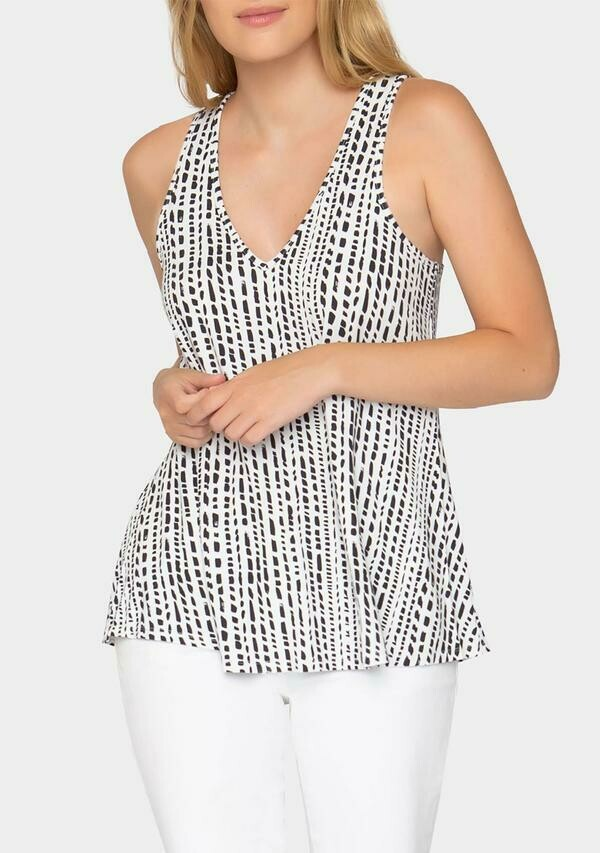 Tart Collections Eve Top In Dash Stripe