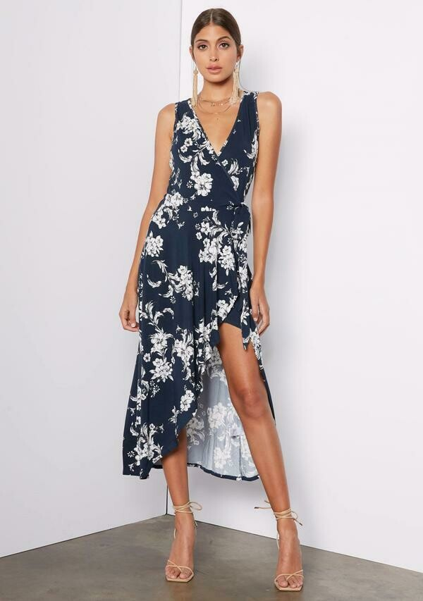 Tart Collections Peri Midi Dress In Pencil Floral